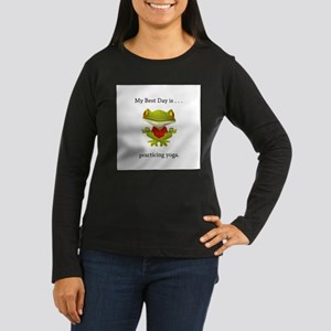 Best Day Frog Yoga Gifts Long Sleeve T-Shirt