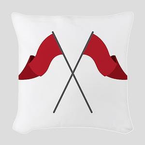 Color Guard Flags Woven Throw Pillow
