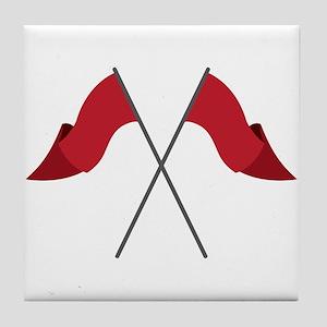 Color Guard Flags Tile Coaster