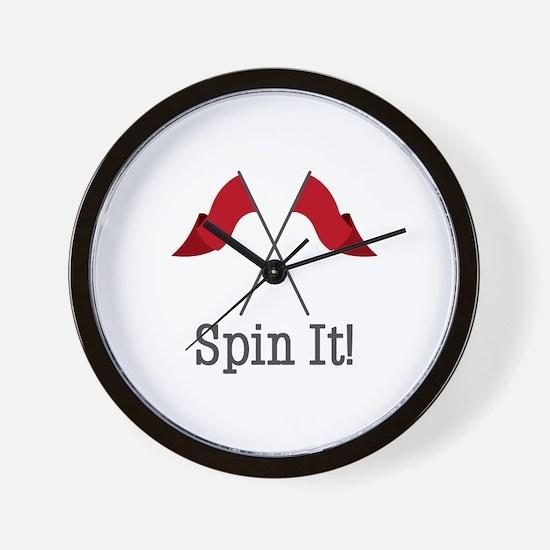Spin It Wall Clock