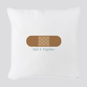 Hold It Together Woven Throw Pillow