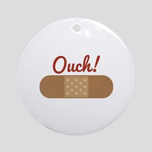 Band Aid Ouch Round Ornament
