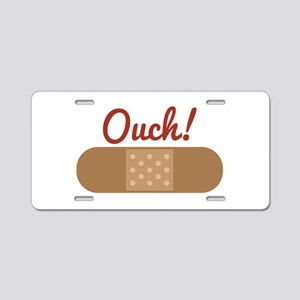 Band Aid Ouch Aluminum License Plate