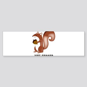 squirrel, wildlife, nut, nut hugger Bumper Sticker