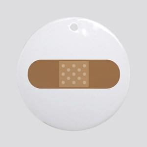 Band Aid Round Ornament