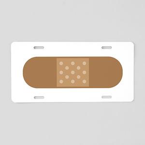 Band Aid Aluminum License Plate