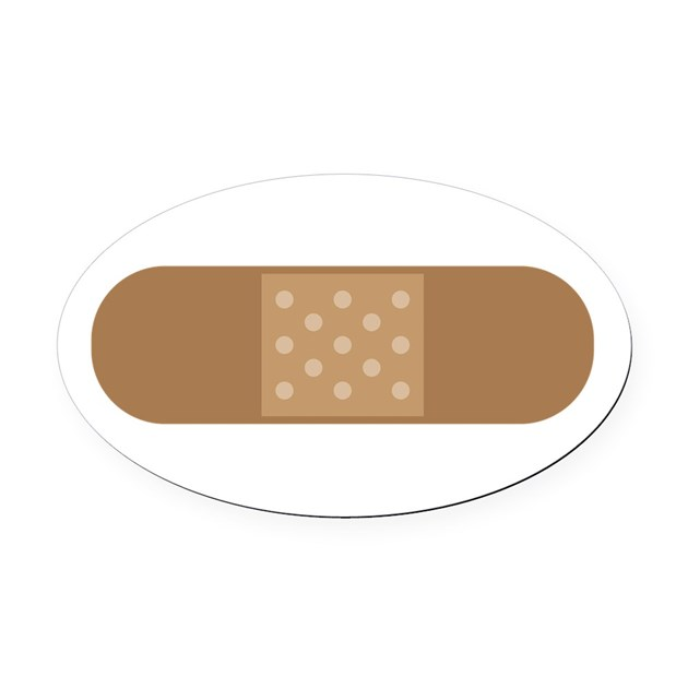 Band Aid Oval Car Magnet By Concord28