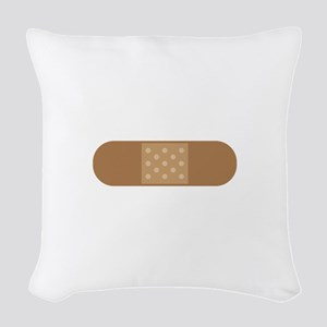 Band Aid Woven Throw Pillow