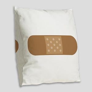 Band Aid Burlap Throw Pillow