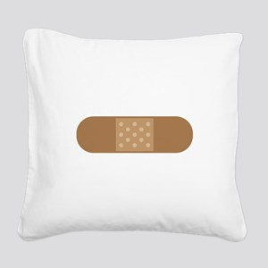 Band Aid Square Canvas Pillow