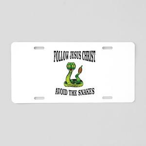 No snakes follow JC Aluminum License Plate