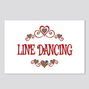 Line Dancing Hearts Postcards (Package of 8)