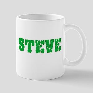Steve Name Weathered Green Design Mugs