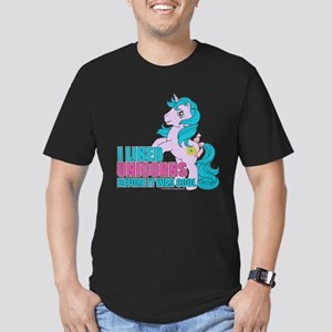 MLP Retro Like Unicorn Men's Fitted T-Shirt (dark)