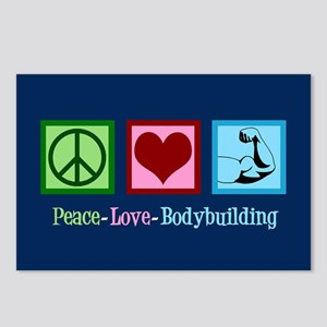 Peace Love Bodybuilding Postcards (Package of 8)
