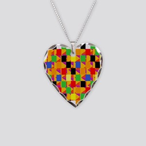 Mad Squares Necklace Heart Charm