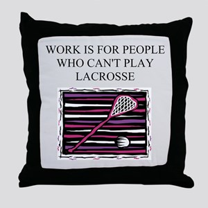 lacrosse gifts t-shirts Throw Pillow