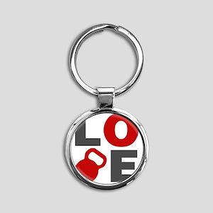 Love Kettlebell Round Keychain