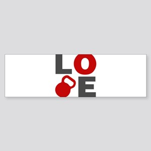Love Kettlebell Sticker (Bumper)