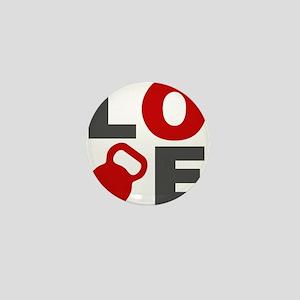 Love Kettlebell Mini Button