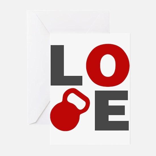 Love Kettlebell Greeting Cards (Pk of 20)