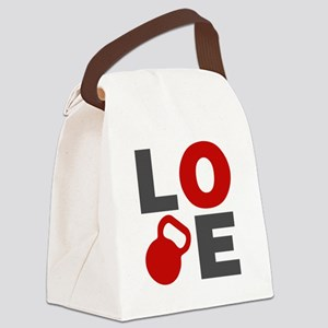 Love Kettlebell Canvas Lunch Bag