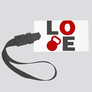Love Kettlebell Large Luggage Tag