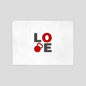 Love Kettlebell 5'x7'Area Rug