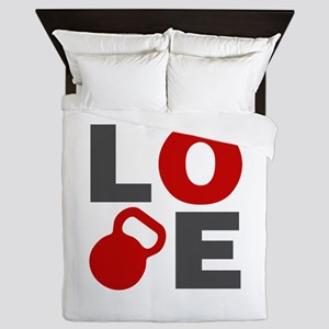 Love Kettlebell Queen Duvet