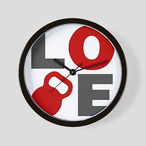 Love Kettlebell Wall Clock