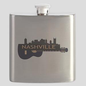 Nashville Guitar Skyline Flask