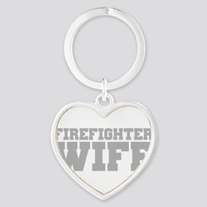 Firefighter Wife Heart Keychain