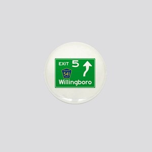 NJTP Logo-free Exit 5 Willingboro Mini Button