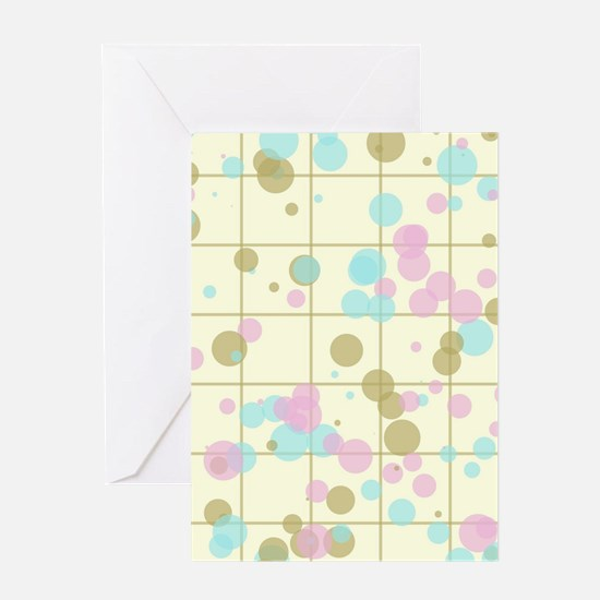 Spotted geometric pattern Greeting Cards