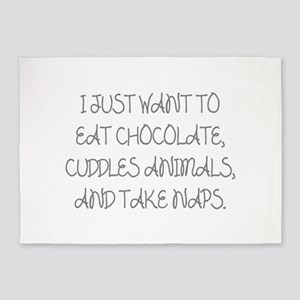 I Just Want To Eat Chocolate 5'x7'Area Rug