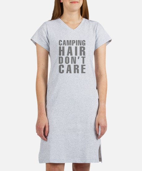 Camping Hair Don't Care Women's Nightshirt