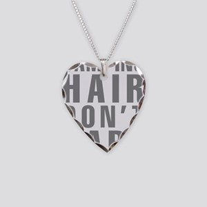 Camping Hair Don't Care Necklace Heart Charm