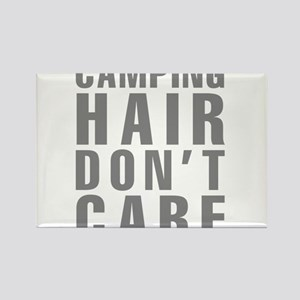 Camping Hair Don't Care Rectangle Magnet