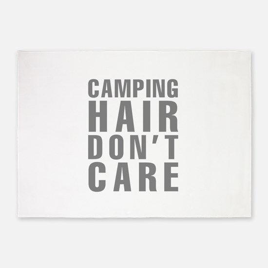 Camping Hair Don't Care 5'x7'Area Rug