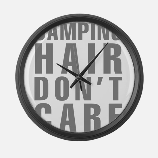 Camping Hair Don't Care Large Wall Clock