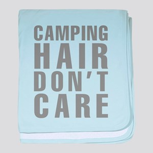 Camping Hair Don't Care baby blanket