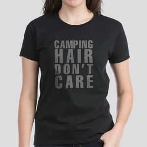 Camping Hair Don't Care Women's Dark T-Shirt
