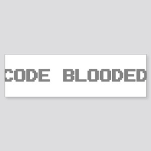 Code Blooded Sticker (Bumper)