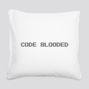 Code Blooded Square Canvas Pillow
