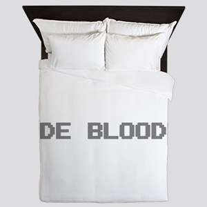Code Blooded Queen Duvet