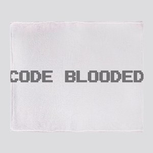 Code Blooded Throw Blanket