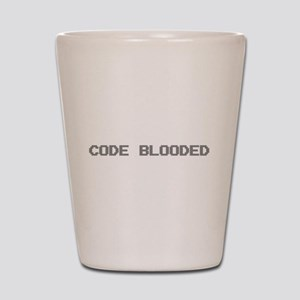 Code Blooded Shot Glass