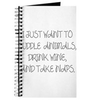 I Just Want To Cuddle Animals Journal