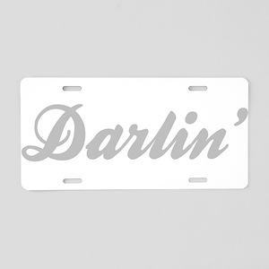Darlin' Aluminum License Plate