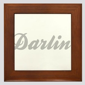 Darlin' Framed Tile